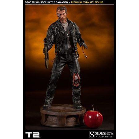 T-800 Terminator Battle Damaged Premium Format Statue - Sideshow
