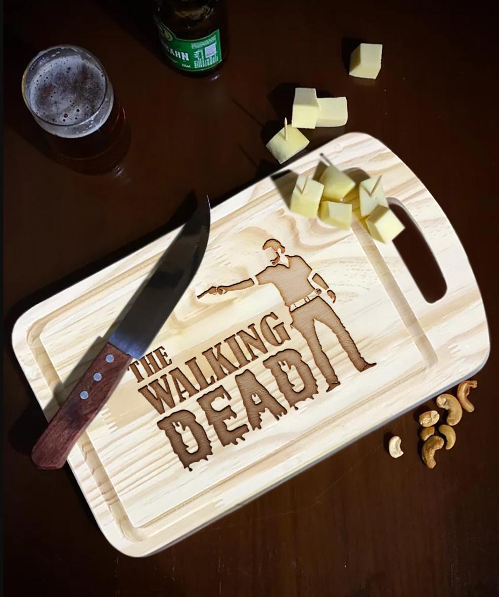 Tábua de Carne de Madeira The Walking Dead Rick Grimes - EV