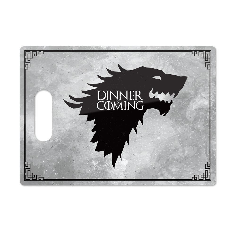 Tábua de Carne de Vidro Dinner Is Coming: Game of Thrones (35x25cm)