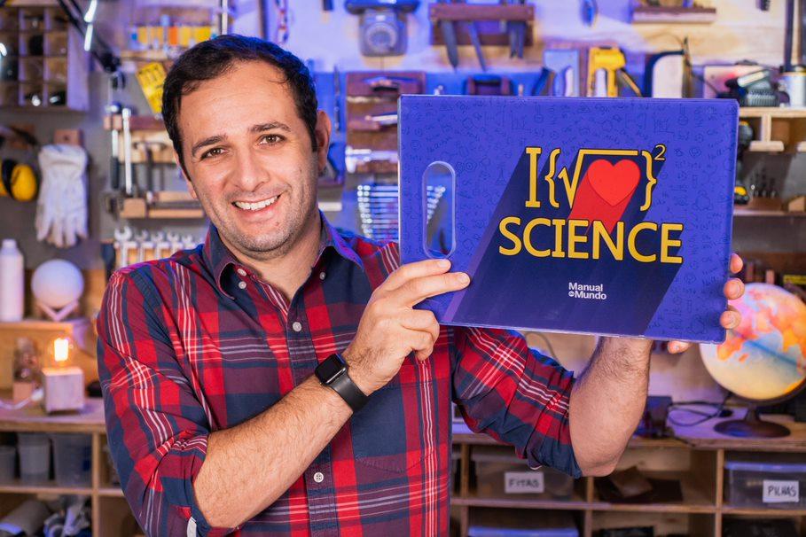 Tábua de Carne de Vidro I Love Science: Manual Do Mundo 35x25cm - EV