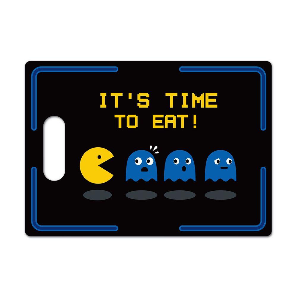 "Tábua de Carne de Vidro ""It's Time To Eat"": Pac-Man - (35x25cm)"