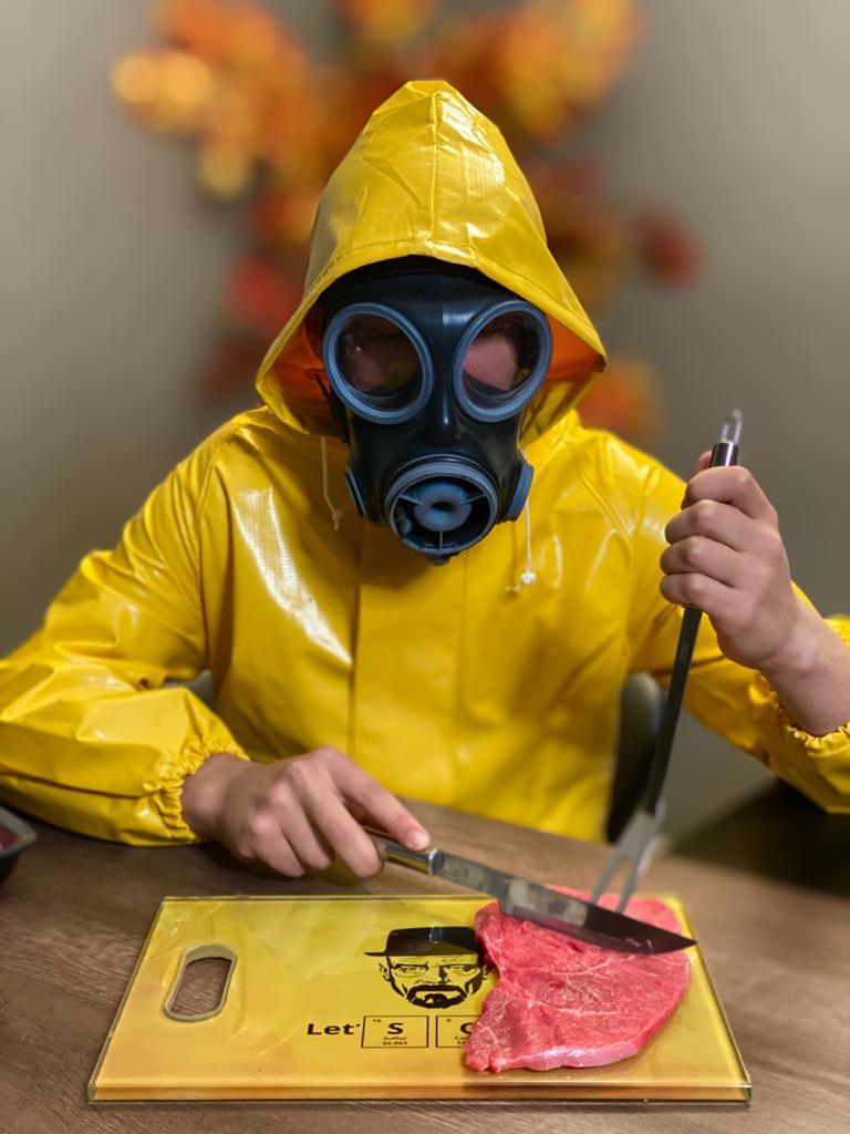 Tábua de Carne de Vidro Let´s Cook: Breaking Bad (35x25cm)