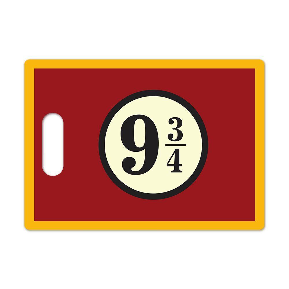 Tábua de Carne de Vidro Plataforma 9 3/4: Harry Potter (35x25cm)