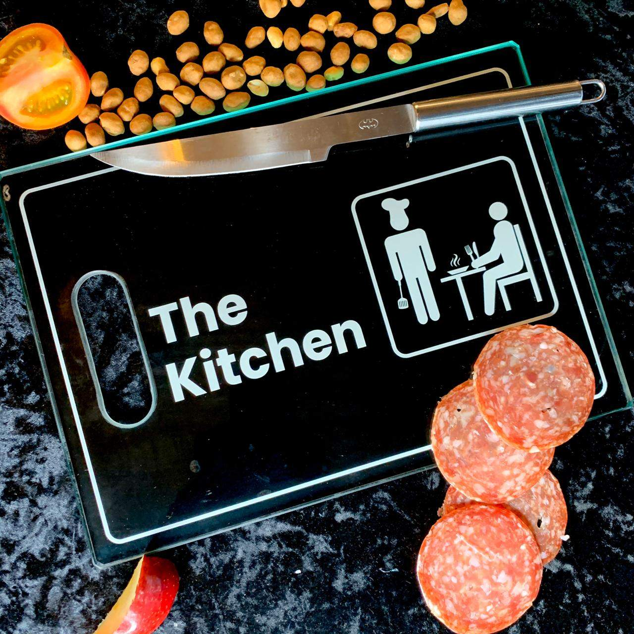 Tábua de Carne de Vidro The Kitchen - (35x25cm)