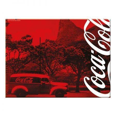 Tabua Vidro Coca-Cola Landscape Rio de Janeiro Vermelho Grande