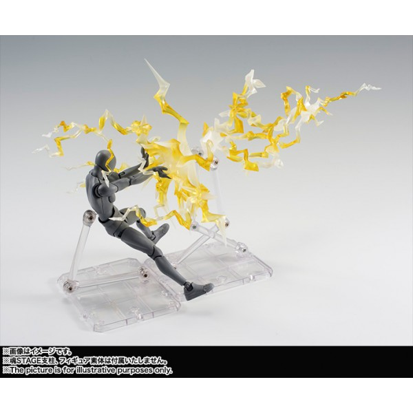 Tamashii Efeito (Effect) Thunder Amarelo (Yellow) Display - Bandai