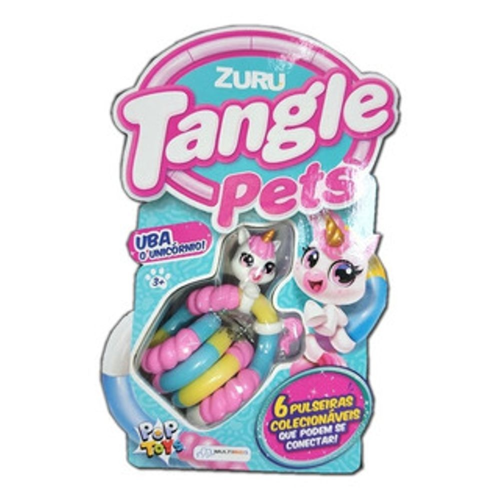 Tangle Pets Zuru Pulseira Pop Toys Uba O Unicórnio - Multikids