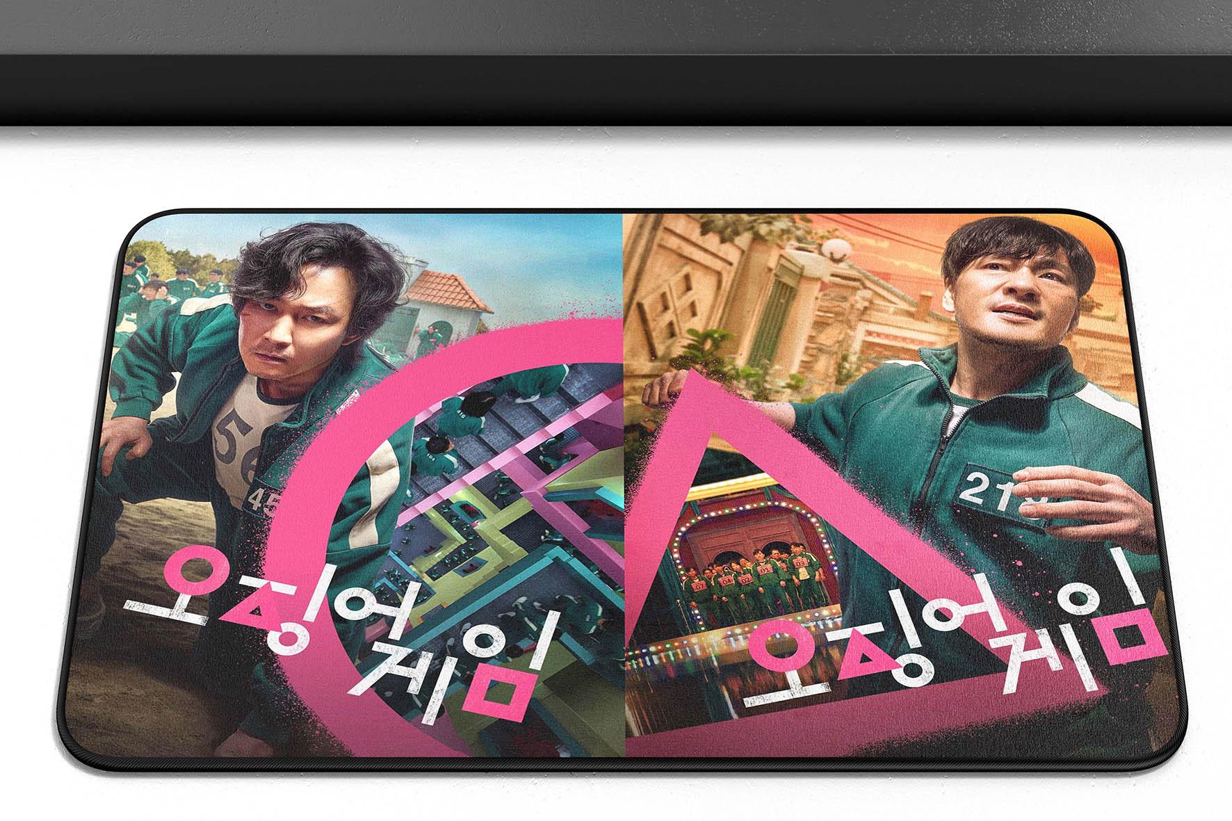 Tapete Capacho Poliéster Round 6 Squid Game Lee Jung-jae Park Hae Soo Netflix - EV