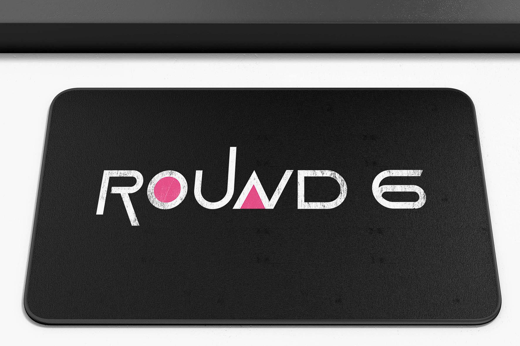 Tapete Capacho Poliéster Round 6 Squid Game Logo Netflix - EV
