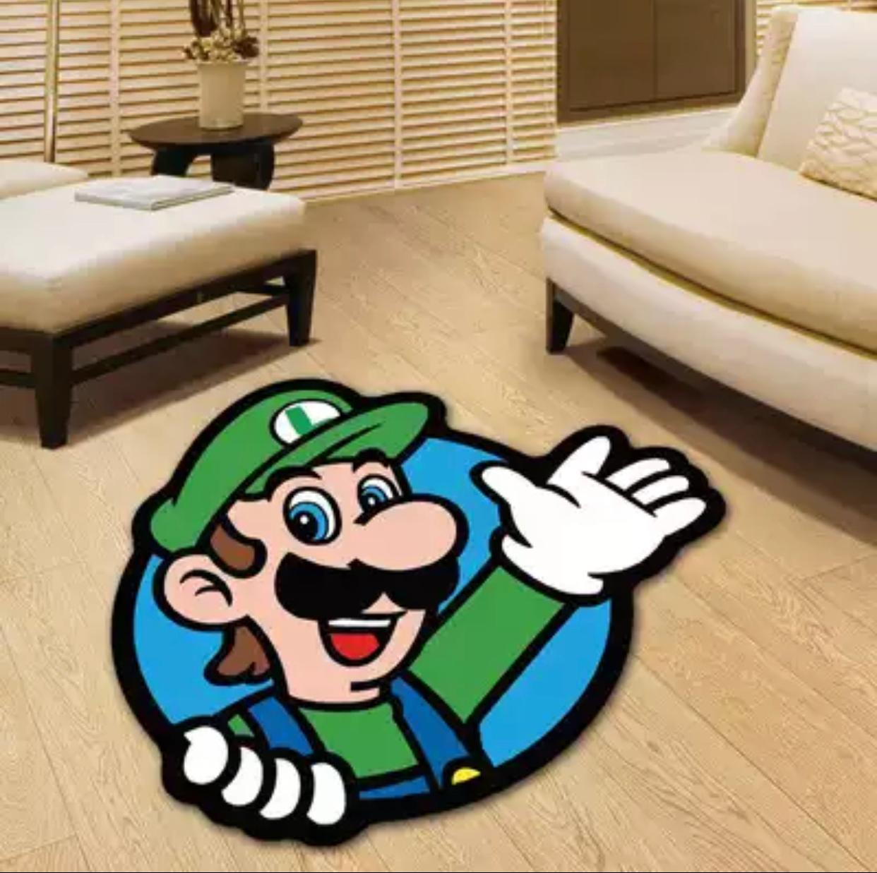 Tapete Carpete Quarto Infantil Luigi: Super Mario Bros 1,00 X 1,00 m - EVALI