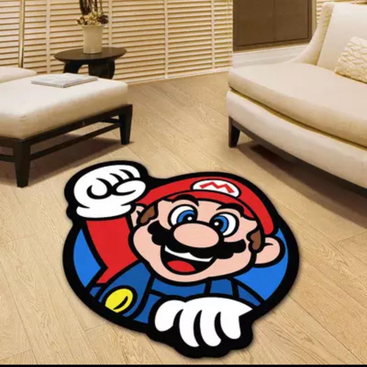 Tapete Carpete Quarto Infantil Mario: Super Mario Bros 1,00 X 1,00 m - EVALI