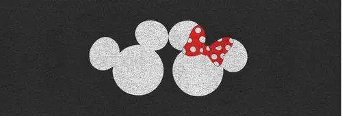 Tapete Cozinha Mickey e Minnie  (Preto e Branco) - EV