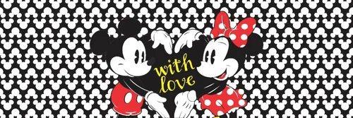 """Tapete Cozinha Mickey e Minnie """"With Love"""" (Grande)"""