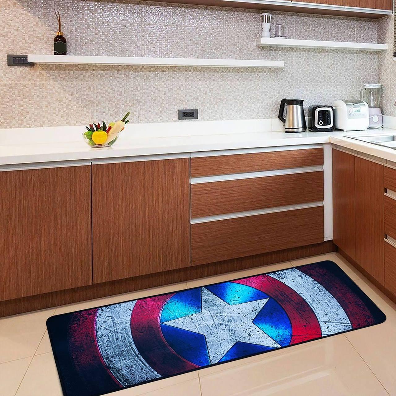 Tapete de Cozinha Escudo Capitão América Captain America: Vingadores Avengers 120cm - Marvel Comics - EV