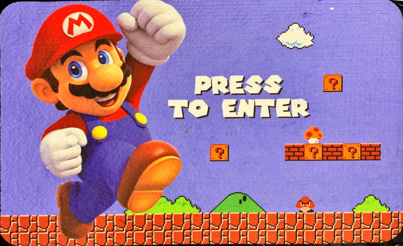 Tapete Para Banheiro Press To Enter: Super Mario Bros