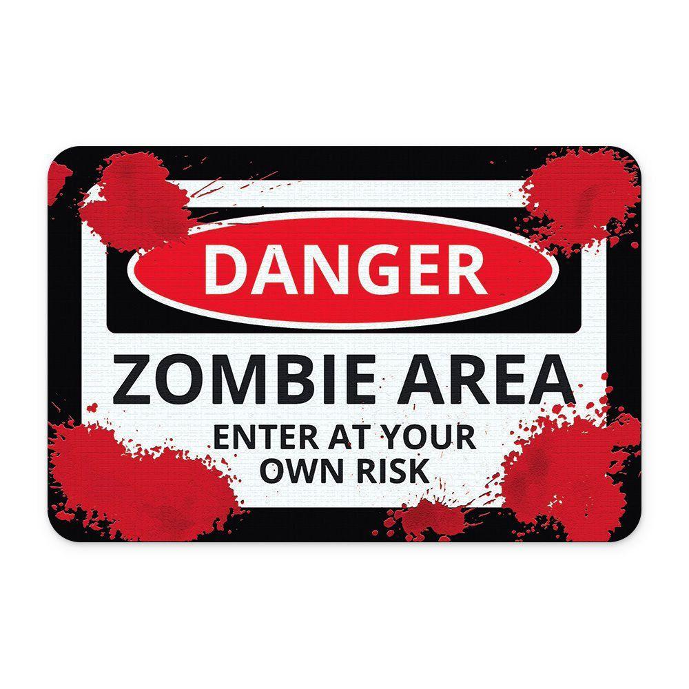 Tapete Para Banheiro Zombie Area