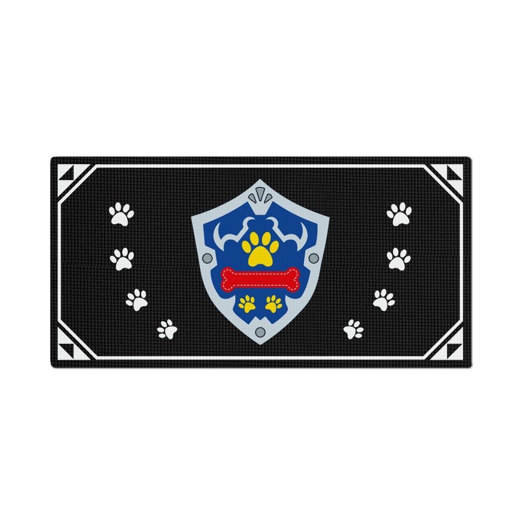 Tapete Pet Impermeável (Cachorro, Gato, Alimentação): Escudo Do Herói (Grande)