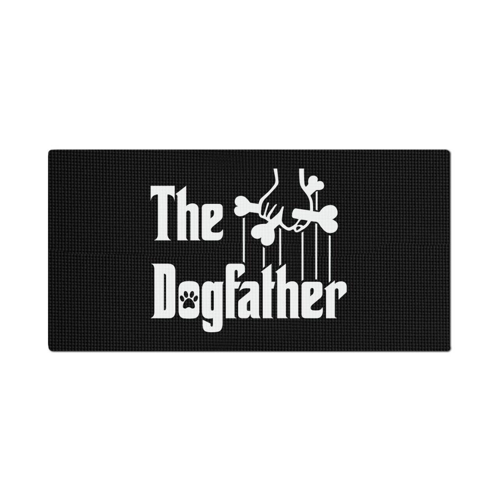 """Tapete Pet Impermeável (Cachorro, Gato, Alimentação): """"The Dogfather"""" (Pequeno)"""