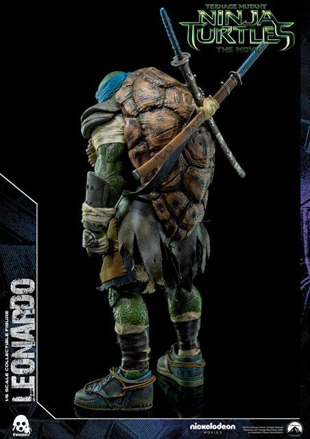 Boneco Leonardo: Tartarugas Ninjas (Filme) Escala 1/6 - Threezero