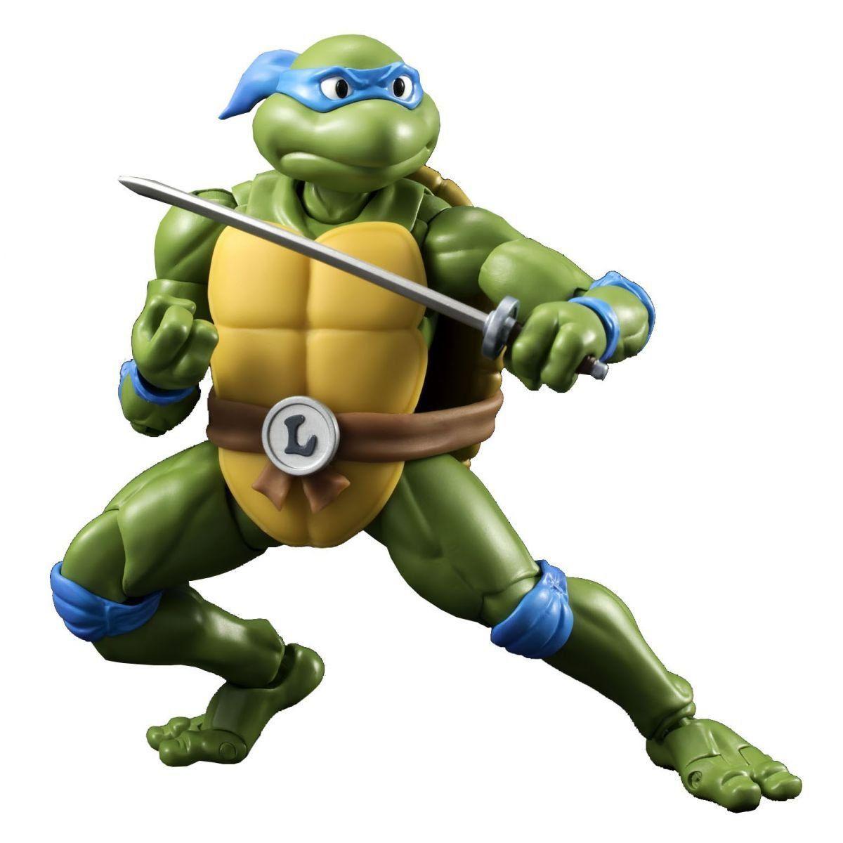 Boneco Leonardo: Tartarugas Ninjas: S.H Figuarts - Bandai