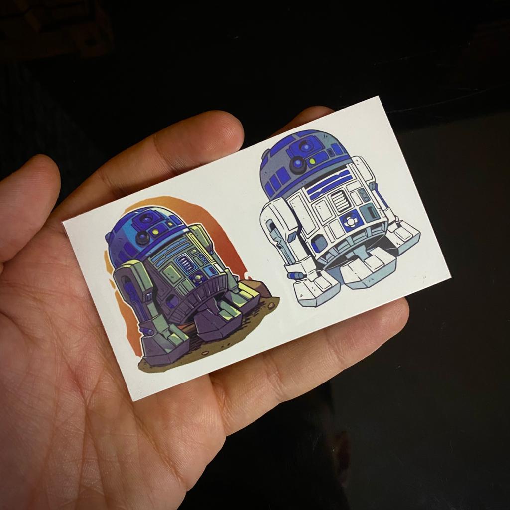 Tatuagem Tattoo R2 D2: Star Wars 5cm Disney+