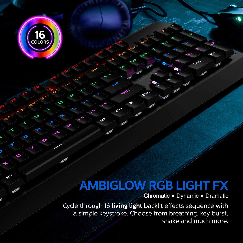 Teclado Mecânico Gamer Momentum Luminoso - Philips