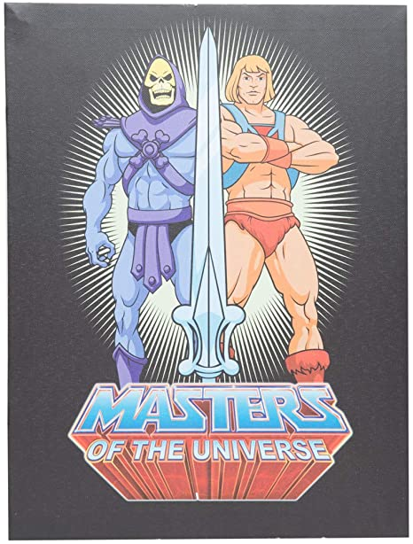Quadro Tela UVL Esqueleto e He-Man (Skeletor and He-Man): Mestres do Universo (Masters of the Universe) - Urban