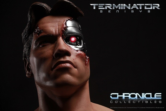 Terminator Genisys: T-800 Damaged Escala 1/2 - Chronicle Collectibles