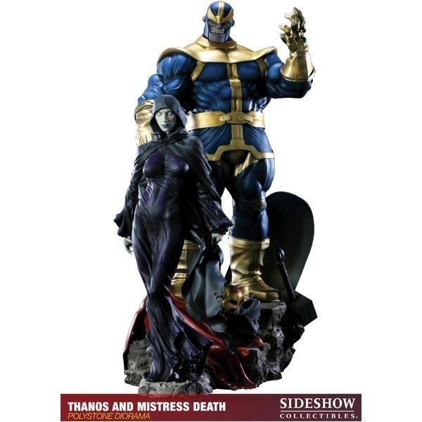 Estátua Thanos and Mistress Death: Marvel Collectibles - Sideshow - CG