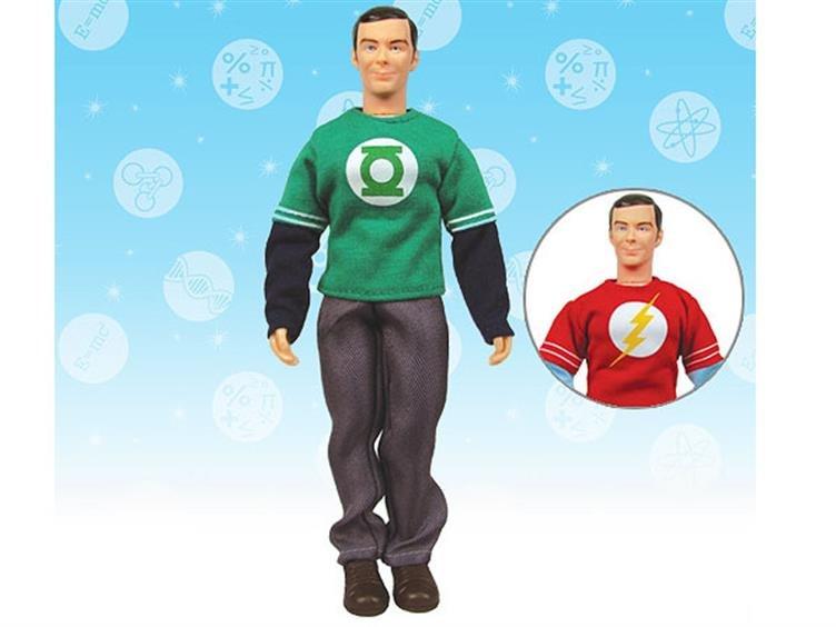 The Big Bang Theory  Sheldon With Green Lantern/Flash Shirt