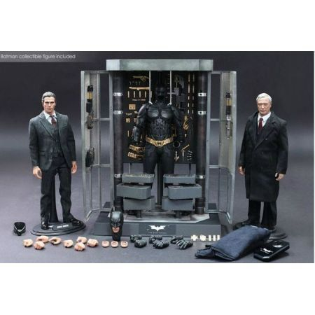 The Dark Knight Batman Armory Bruce Wayne & Alfred 1/6 - Hot Toys