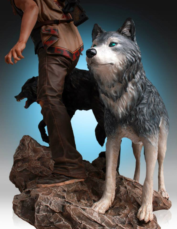 Estátua Daryl Dixon e Lobos (and the Wolves): The Walking Dead - Gentle Giant