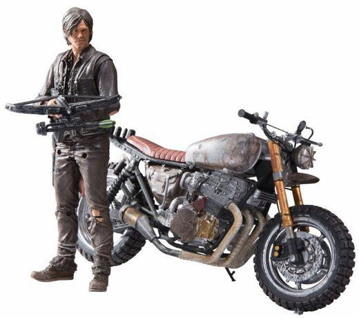 Boneco Daryl Dixon com Moto (With New Bike): The Walking Dead - McFarlane Toys