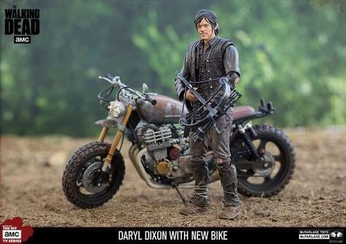 Boneco Daryl Dixon com Moto (With New Bike): The Walking Dead - McFarlane Toys