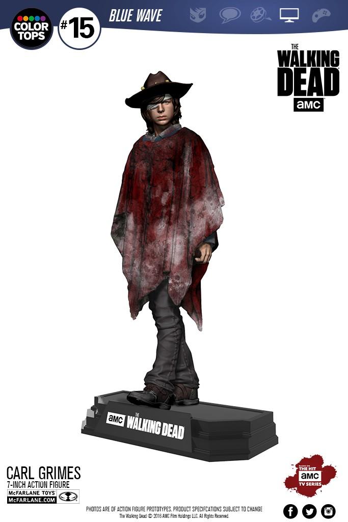 Estátua Carl Grimes: The Walking Dead Red Series - Mcfarlane Toys