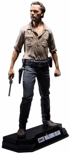 Estátua Rick Grimes: The Walking Dead Color Tops Series Escala 1/10 - Mcfarlane Toys