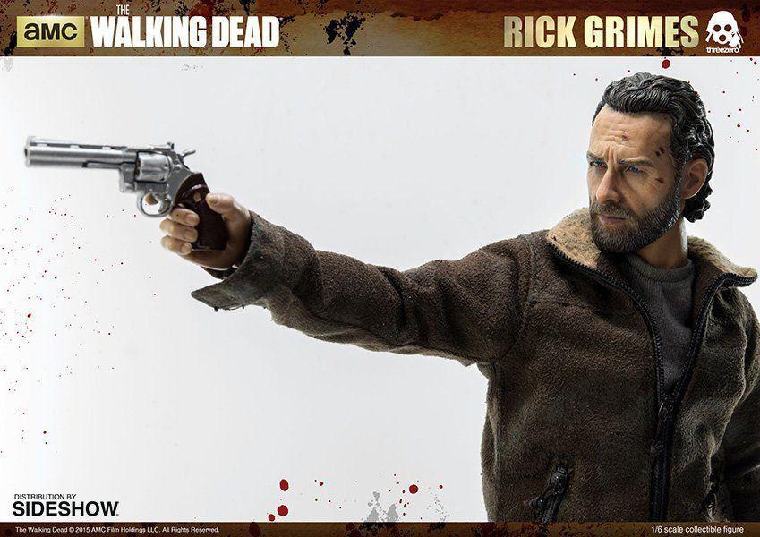 Boneco Rick Grimes: The Walking Dead (Escala 1/6) - ThreeA - CD