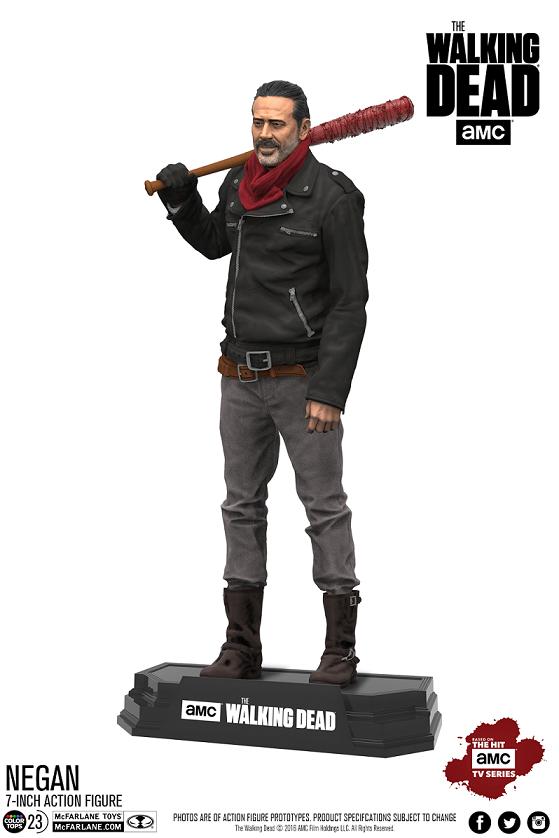 Action Figure Negan: The Walking Dead Color Tops #23 TV Series Escala 1/10 - McFarlane