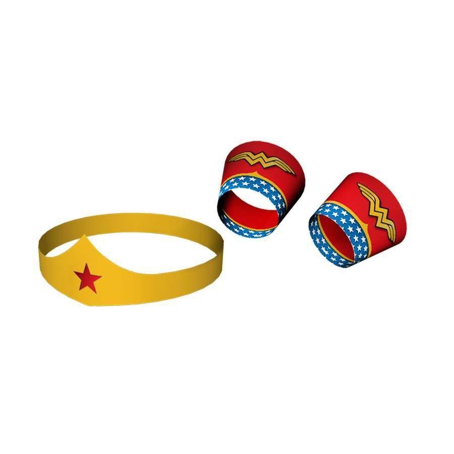 Tiara e Bracelete Wonder Woman - Festcolor