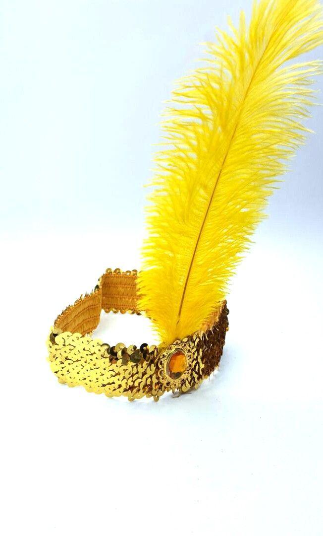 Tiara Melindrosa Amarela - Acessório de Fantasia
