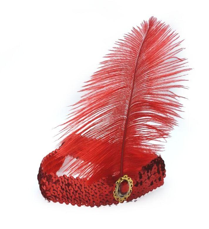 Tiara Melindrosa Vermelha - Acessório de Fantasia