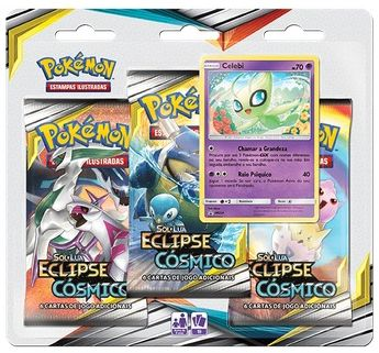 Triple Pack Card Pokémon: Sol e Lua Eclipse Cósmico