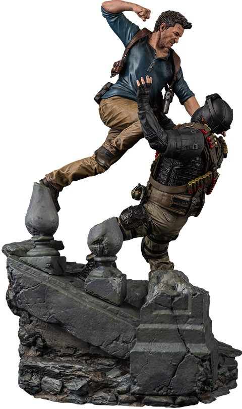 PRÉ VENDA: Estátua Nathan Drake vs Thief: Uncharted 4: A Thief's End Escala 1/6 - Sony