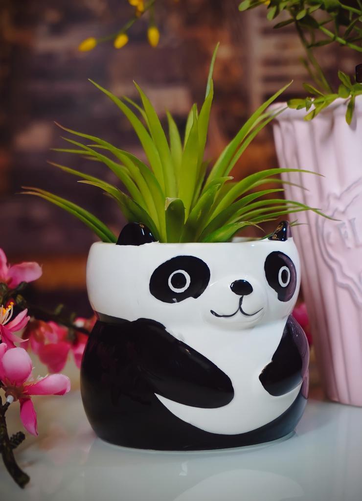 Vaso Cachepot Panda Sentado