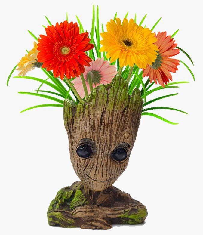Vaso de Planta Baby Groot : Guardiões da Galáxia Vol. 2 (Guardians of the Galaxy Vol. 2) (Cachepot) - EV