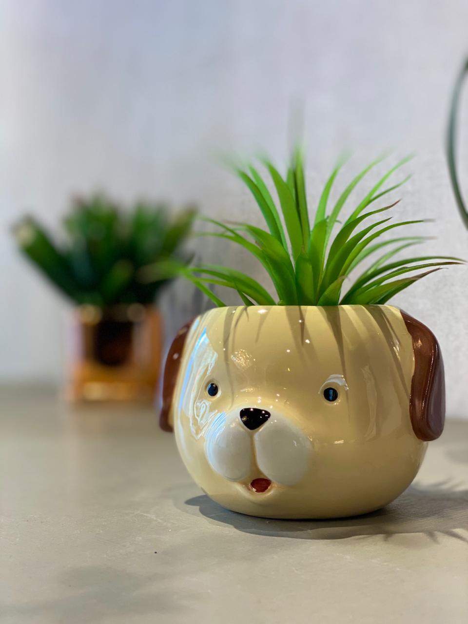 Vaso Decorativo Pets Colection: Cachorro - La Fleur
