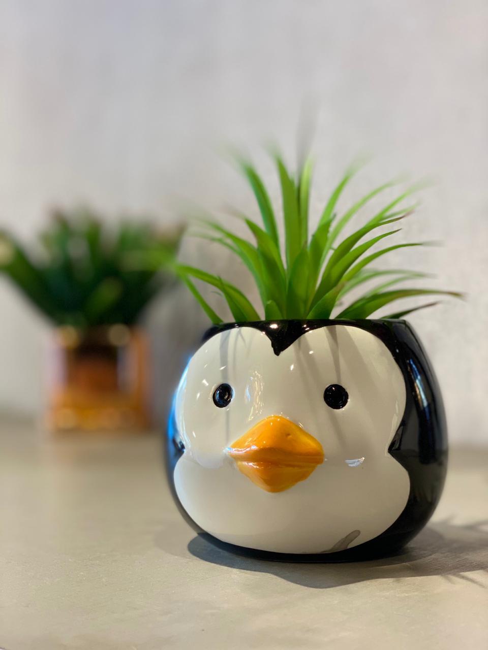 Vaso Decorativo Pets Colection: Pinguim - La Fleur
