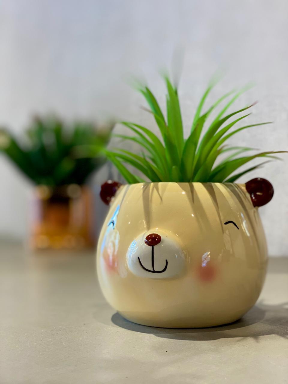 Vaso Decorativo Pets Colection: Urso - La Fleur