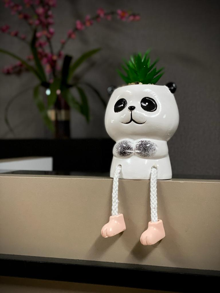 Vaso Decorativo Porcelana Cachapot Panda