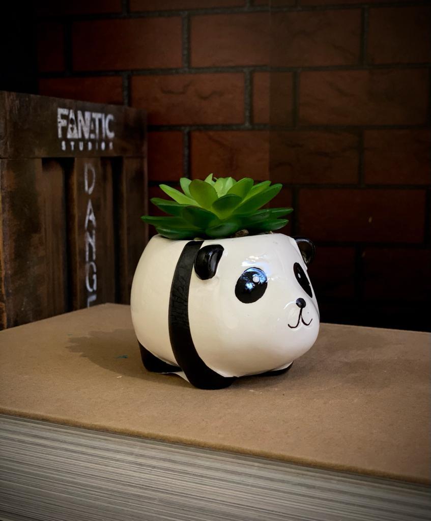 Vaso Decorativo Porcelana Panda